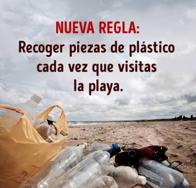 NUEVA REGLA: Recoger piezas de plástico cada vez que visitas la playa.