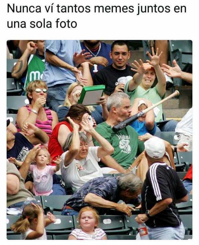 Nunca vi tantos memes juntos en una sola foto.
