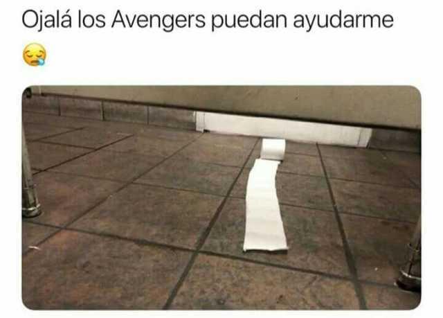 Ojalá los Avengers puedan ayudarme.