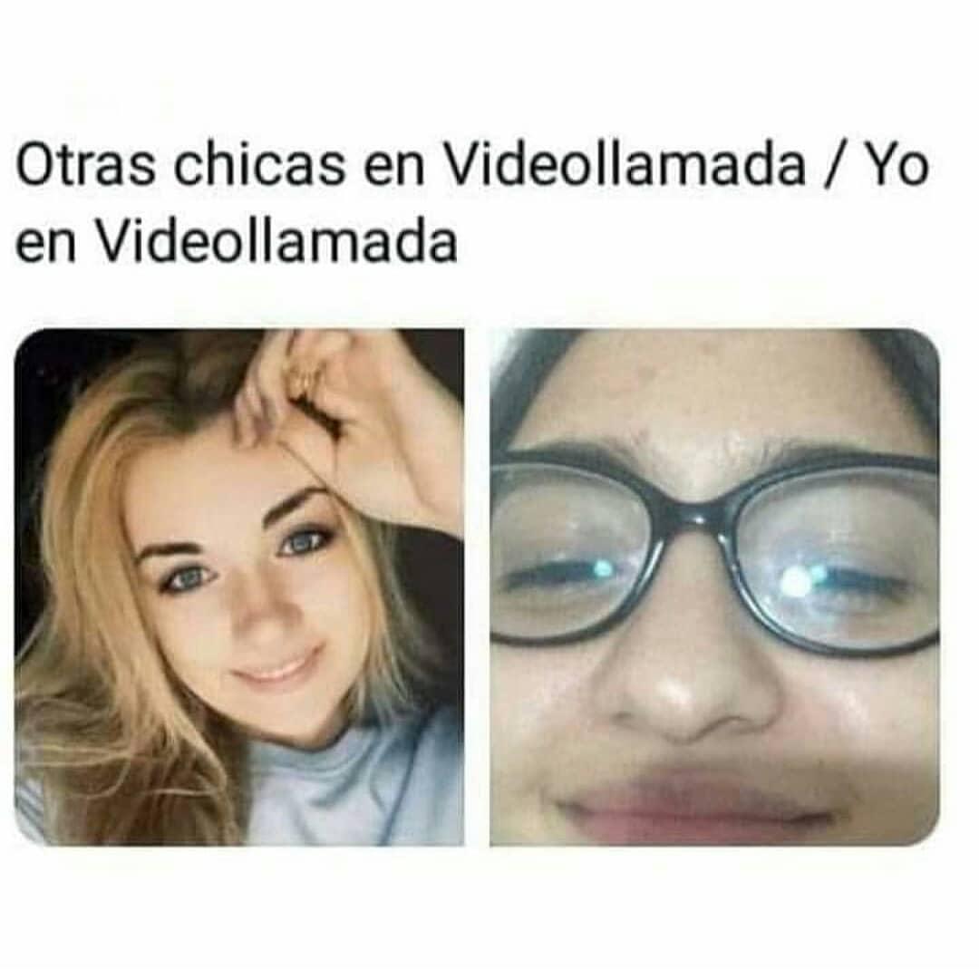 Otras chicas en Videollamada. / Yo en Videollamada.