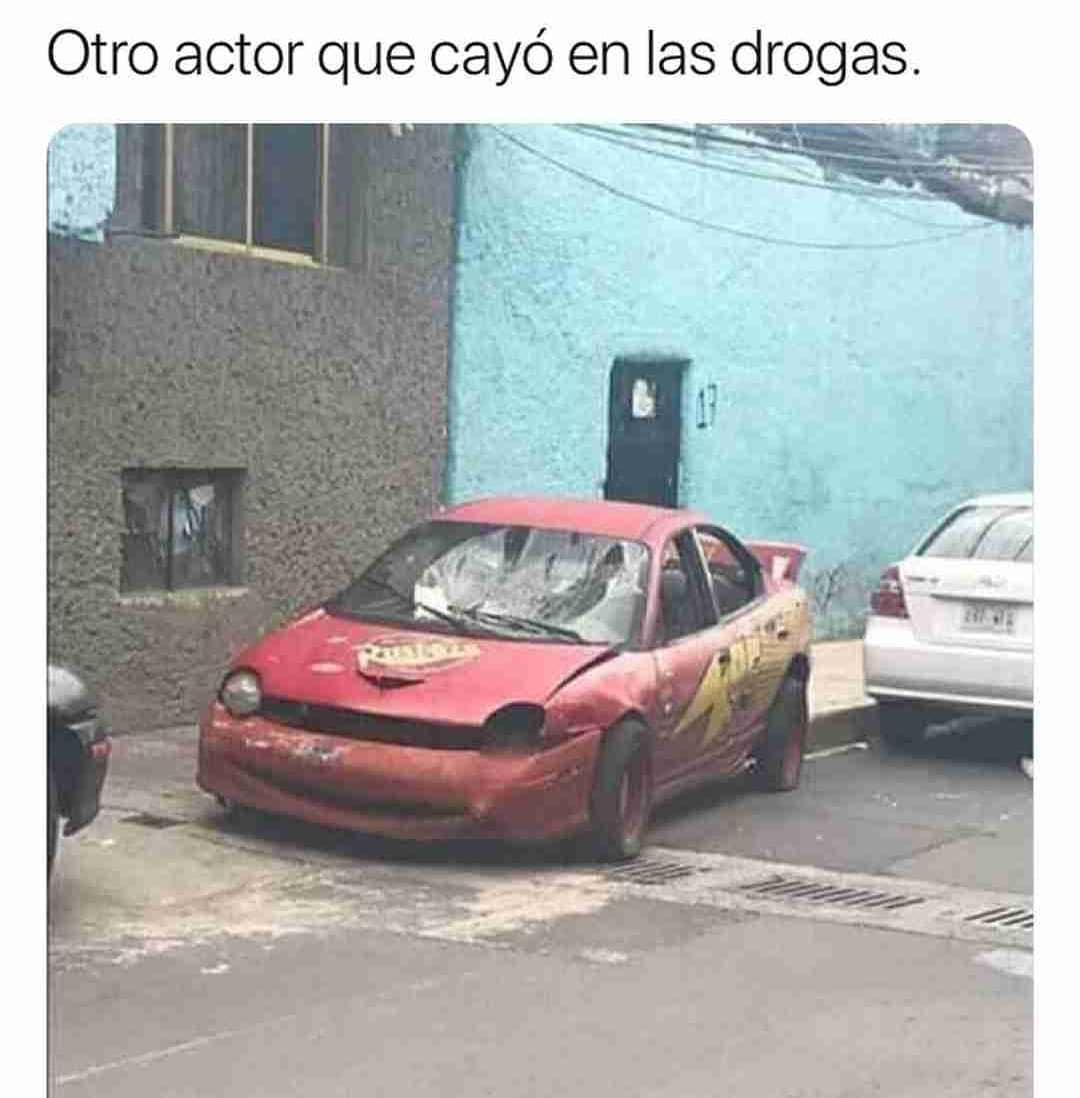 Otro actor que cayó en las drogas.