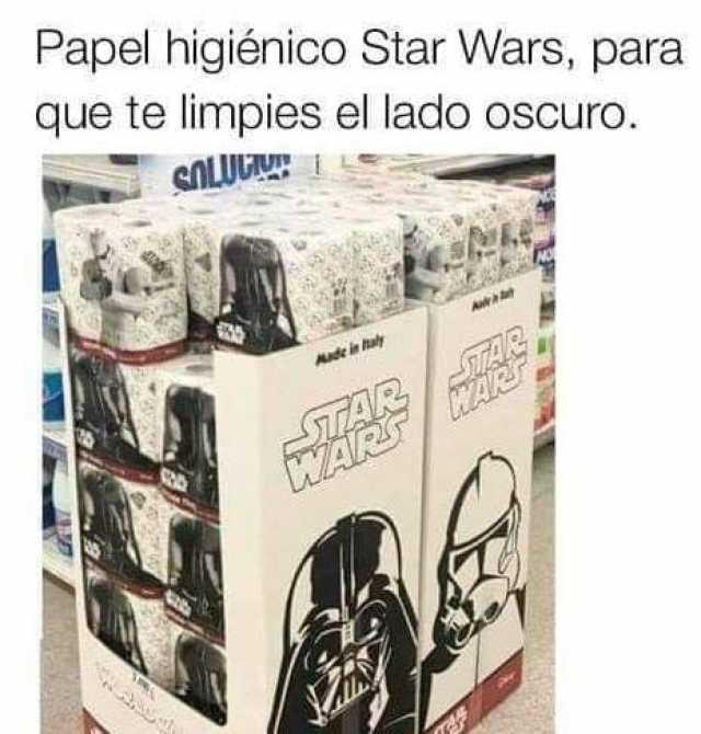 Papel higiénico Star Wars, para que te limpies el lado oscuro.