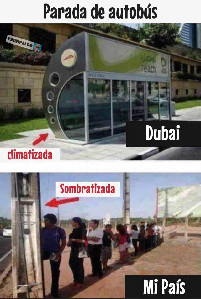 Parada de autobús en Dubai - Climatizada  En mi país - Sombratizada
