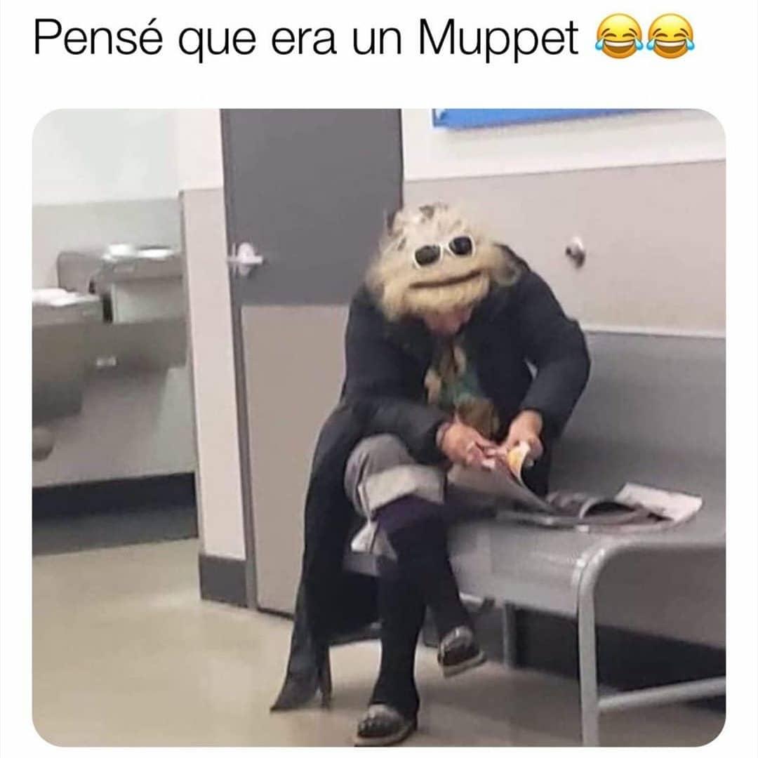 Pensé que era un Muppet.