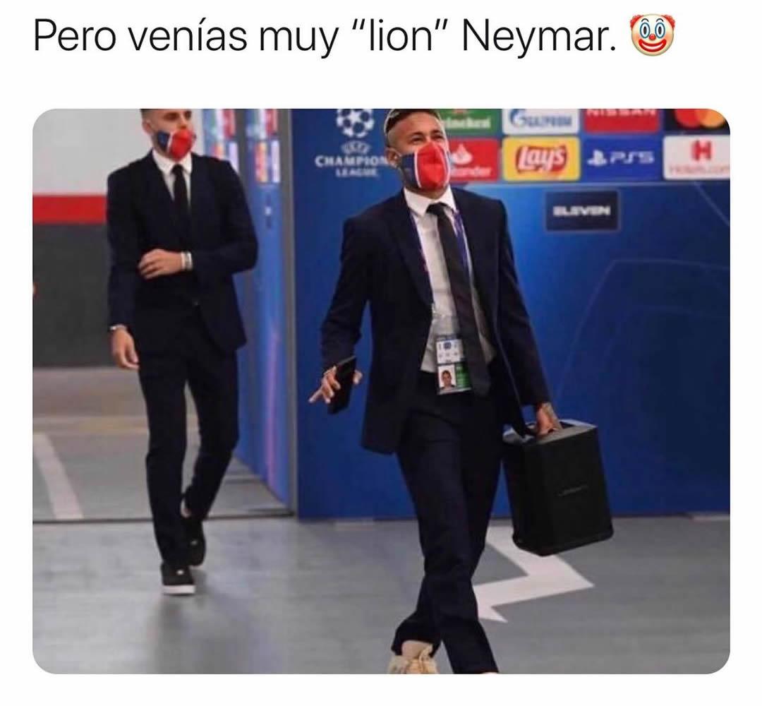 "Pero venías muy ""lion"" Neymar."