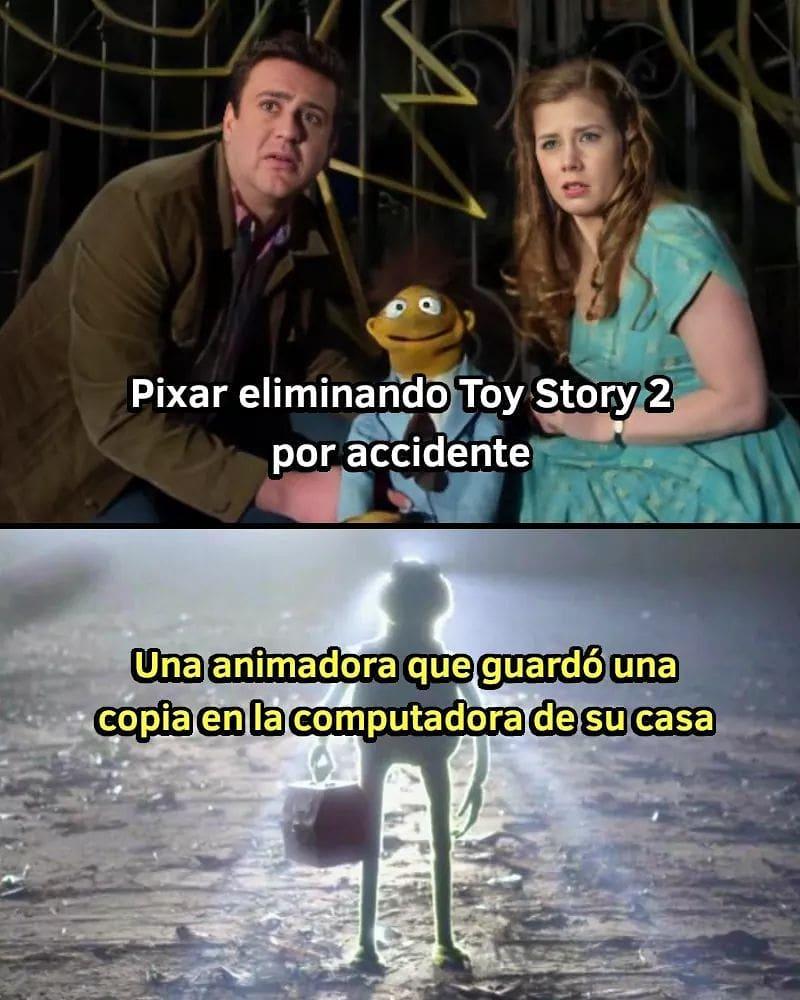 Pixar eliminando Toy Story 2 por accidente!  Una animadora que guardó una copia en la computadora de su casa.