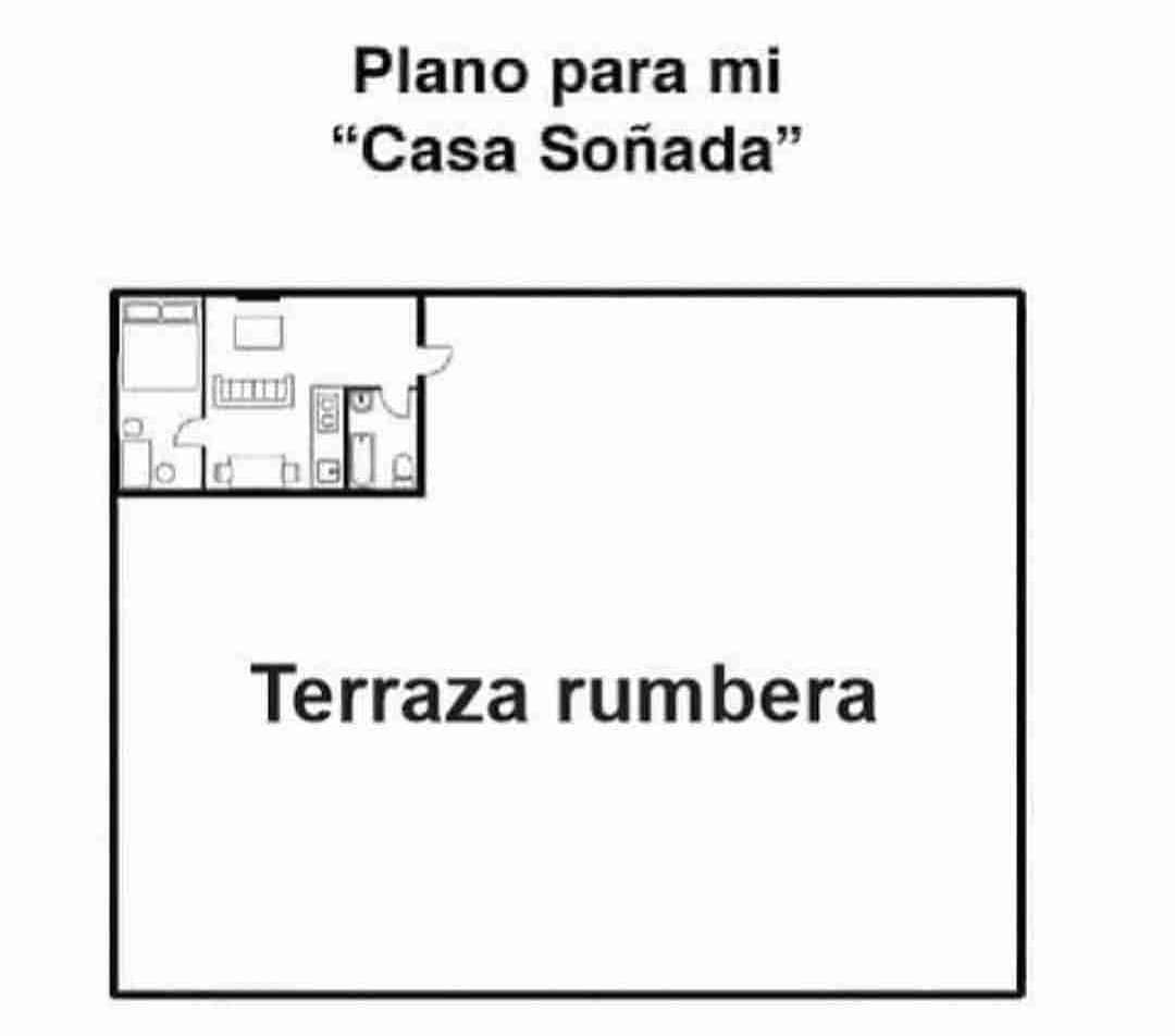 "Plano para mi ""Casa Soñada"".  Terraza rumbera."