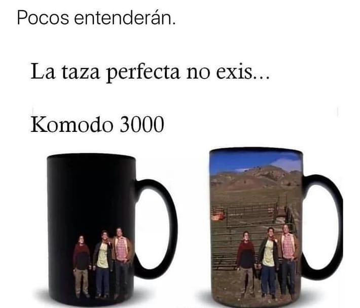 Pocos entenderán. La taza perfecta no exis... Komodo 3000.