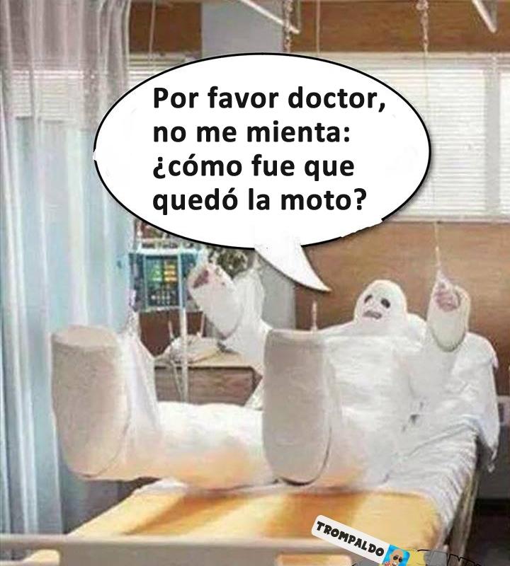 Por favor doctor, no me mienta: ¿cómo fue que quedó la moto?