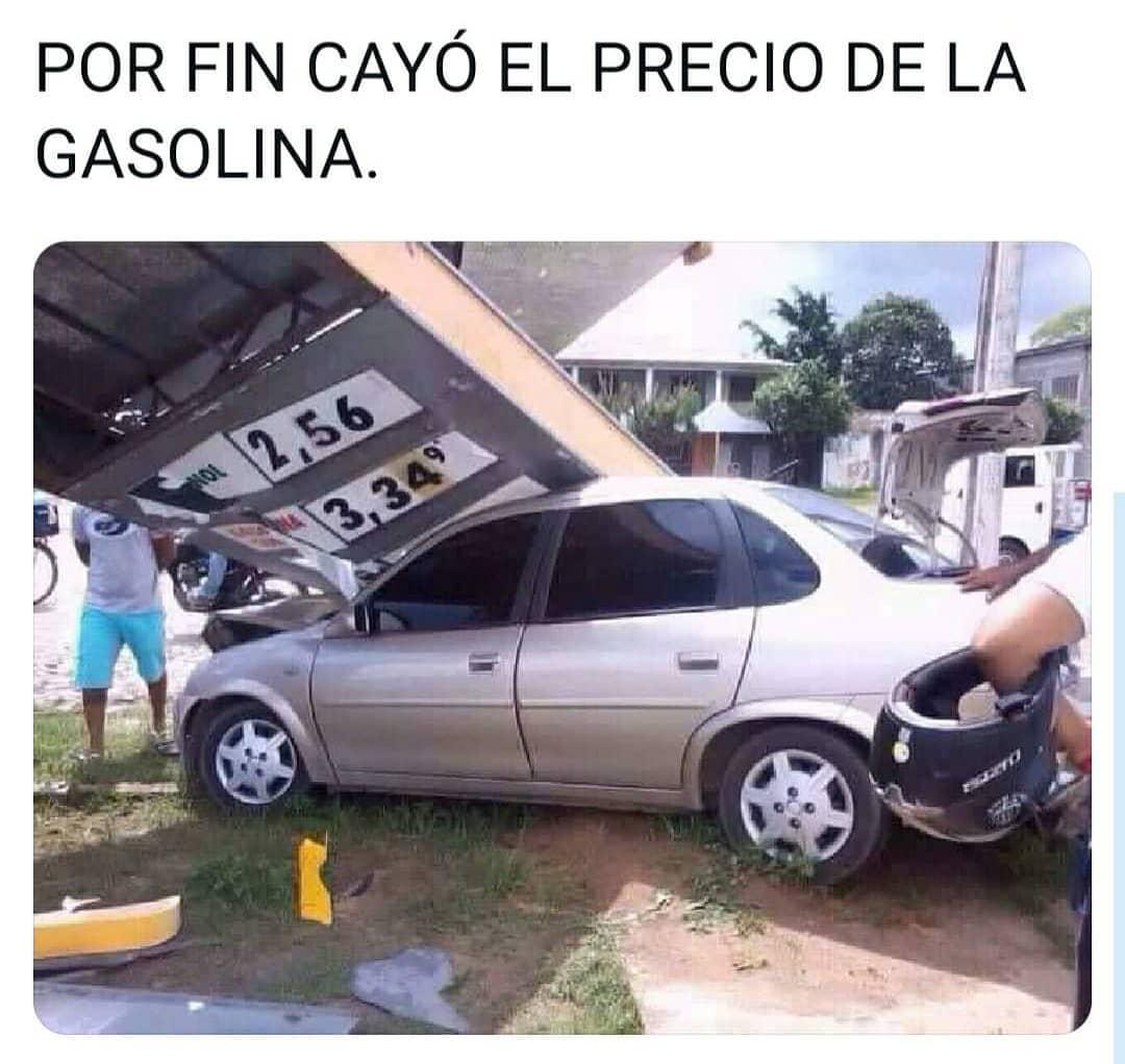 Por fin cayó el precio de la gasolina.