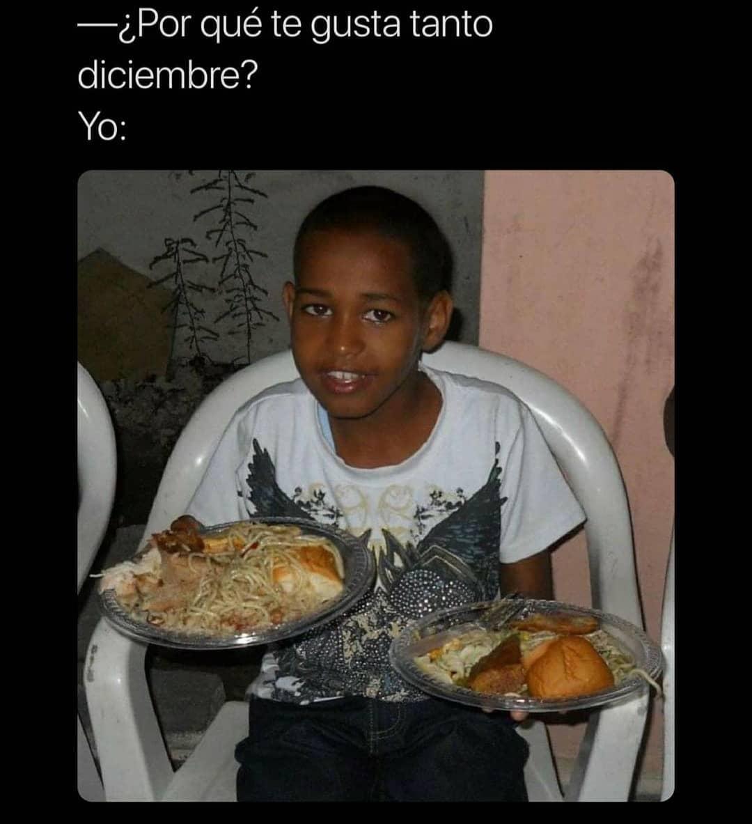 ¿Por qué te gusta tanto diciembre?  Yo: