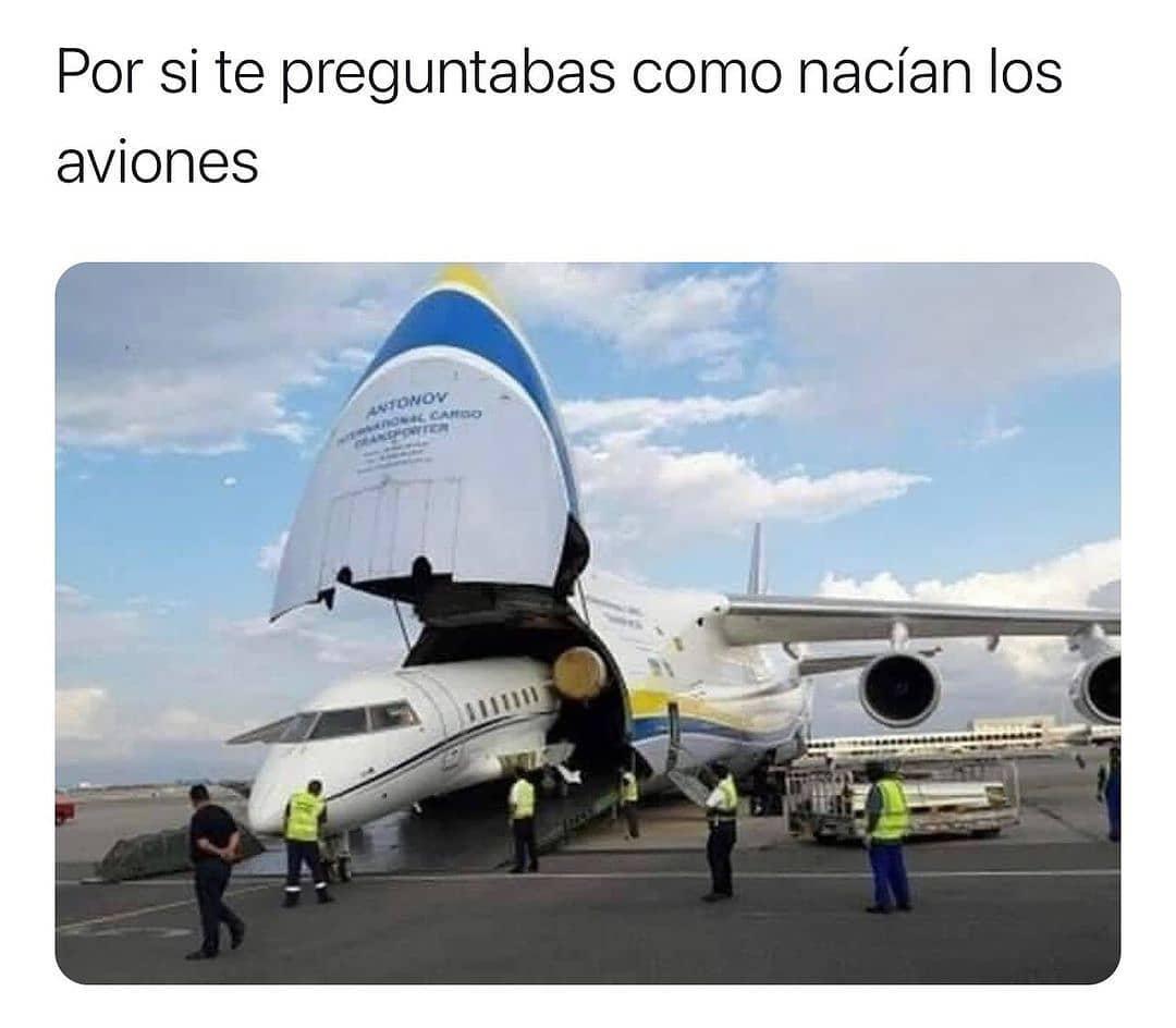 Por si te preguntabas como nacían los aviones.