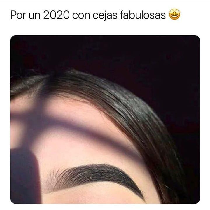 Por un 2020 con cejas fabulosas.