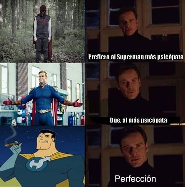 Prefiero al Superman más psicópata. Dije. al más psicópata. Perfección.