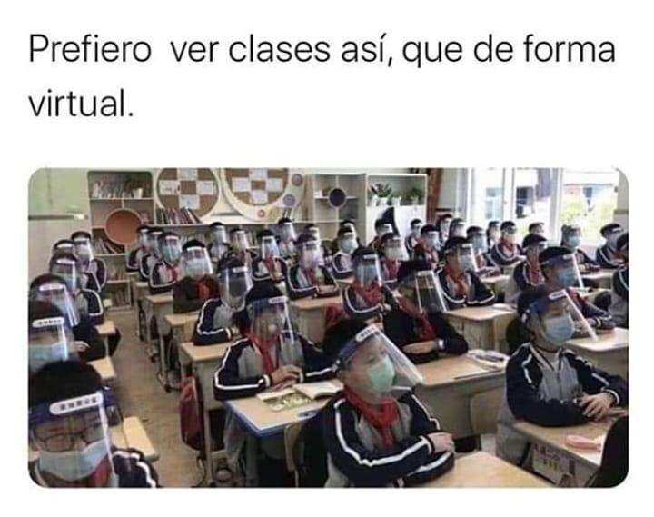 Prefiero ver clases así, que de forma virtual.