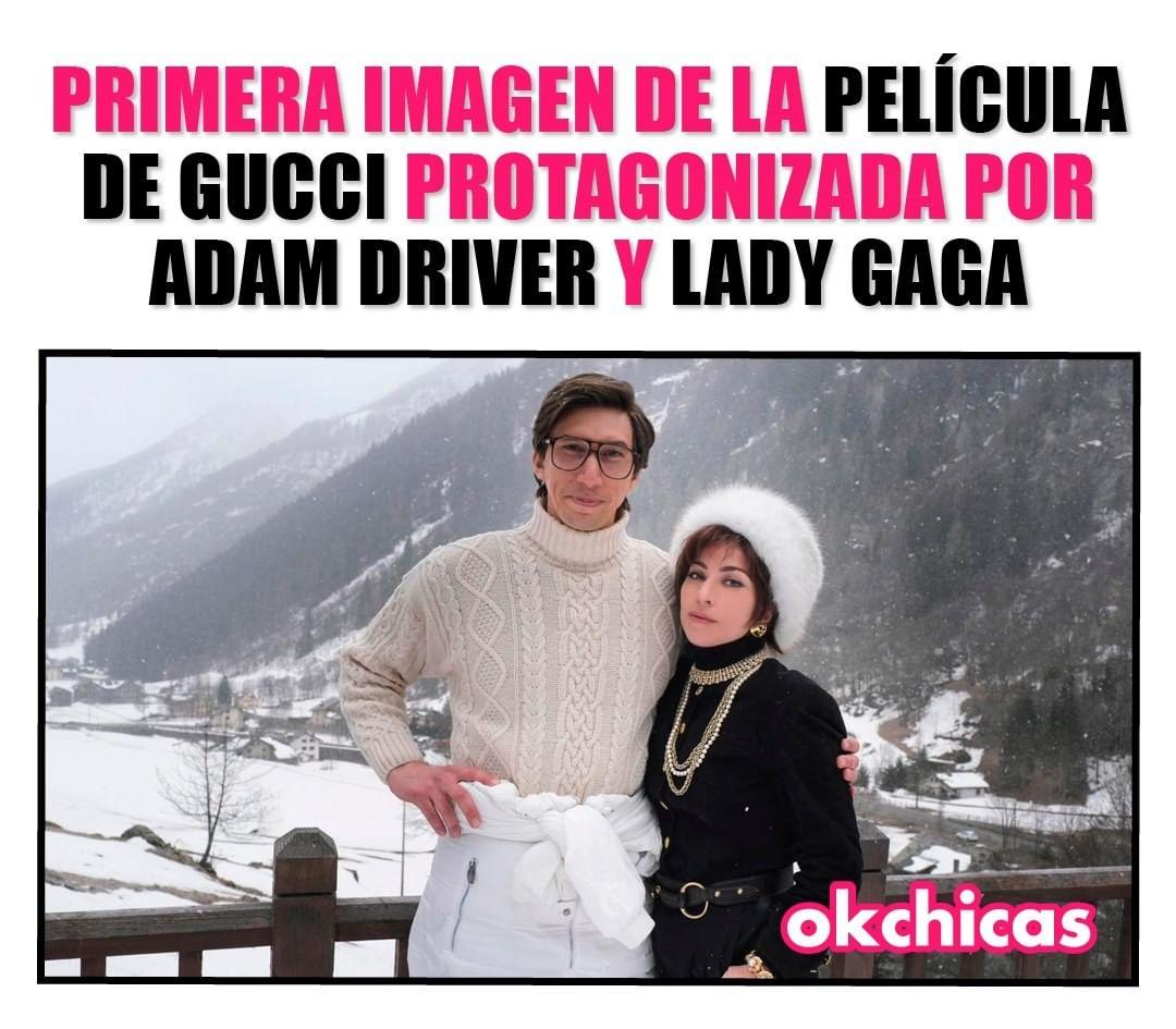 Primera imagen de la película de Gucci protagonizada por Adam driver y Lady Gaga.