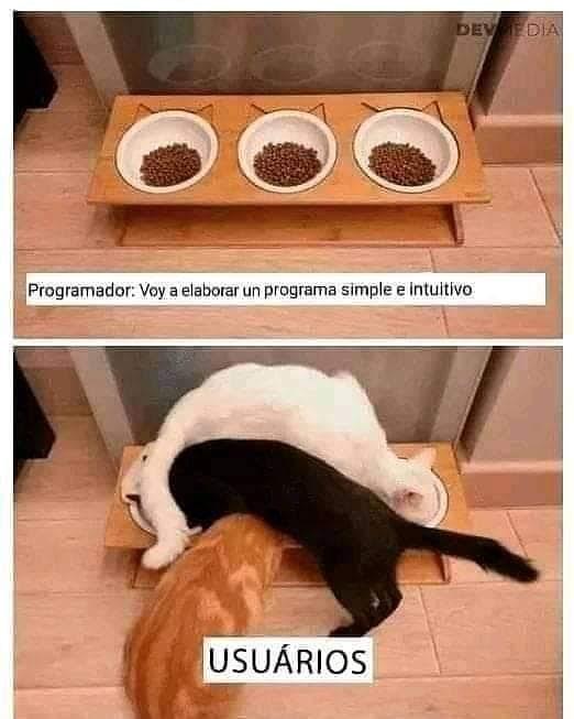 Programador: Voy a elaborar un programa simple e intuitivo.  Usuarios.