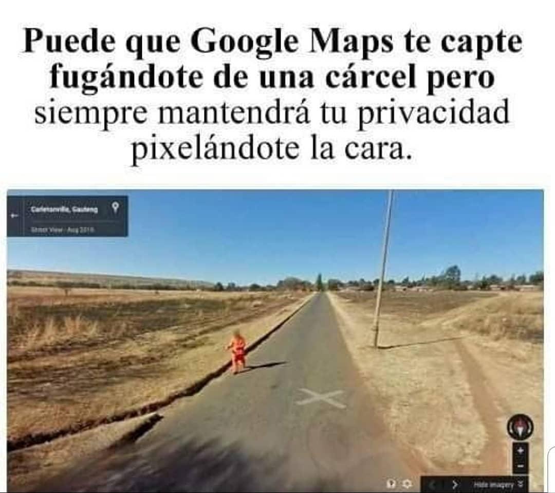 Puede que Google Maps te capte fugándote de una cárcel pero siempre mantendrá tu privacidad pixelándote la cara.