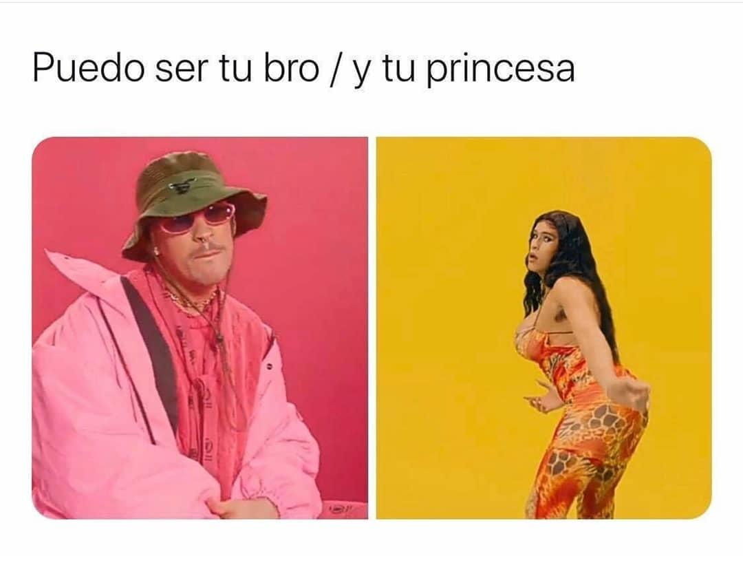 Puedo ser tu bro. / Y tu princesa.