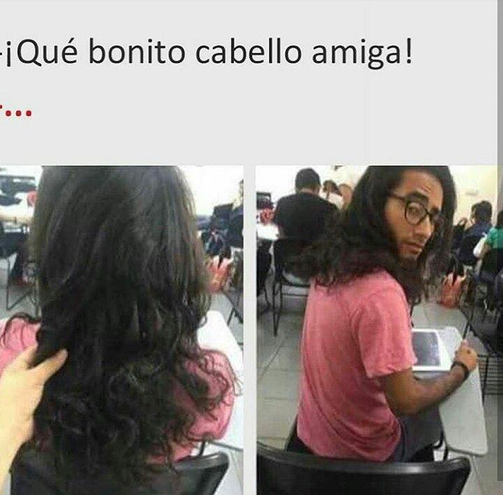¡Qué bonito cabello amiga!