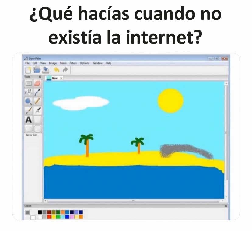 ¿Qué hacías cuando no existía la internet?
