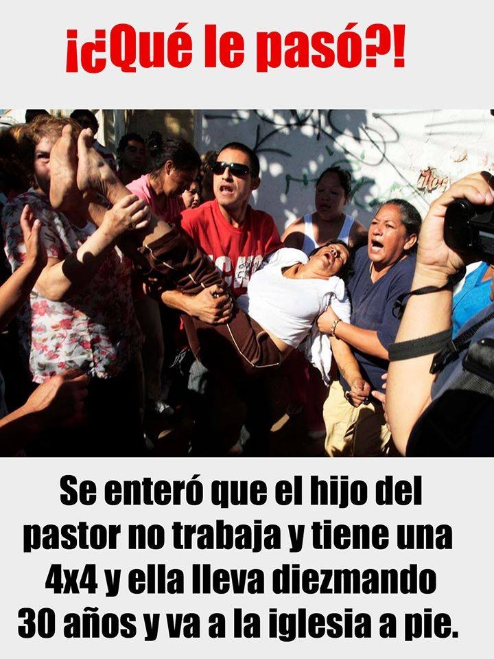 ¡¿Qué le pasó?!  Se enteró que el hijo del pastor no trabaja y tiene una 4x4 y ella lleva diezmando 30 años y va a la iglesia a pie.