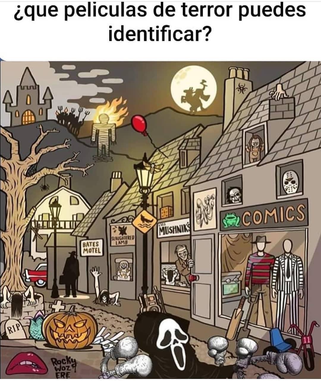 ¿Que películas de terror puedes identificar?