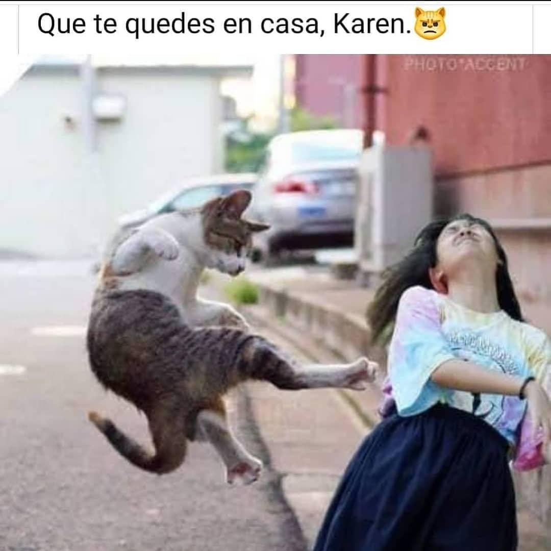 Que te quedes en casa, Karen.