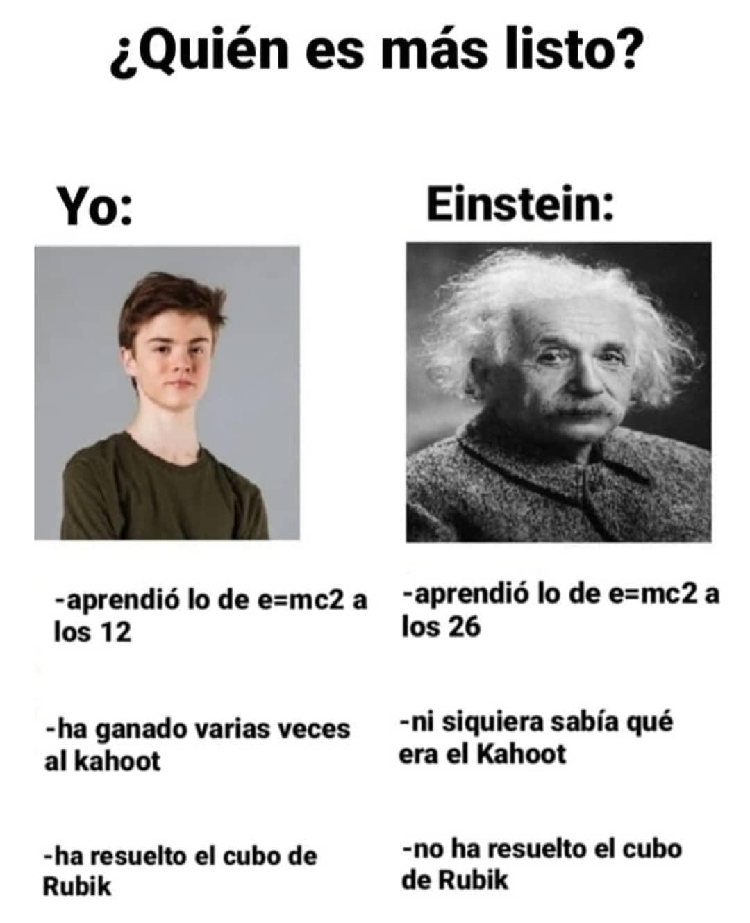 ¿Quién es más listo?