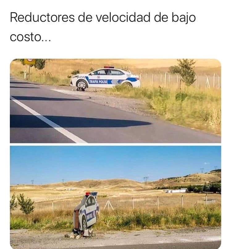 Reductores de velocidad de bajo costo...