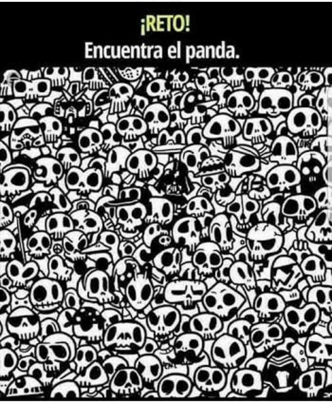 Reto. Encuentra el panda.