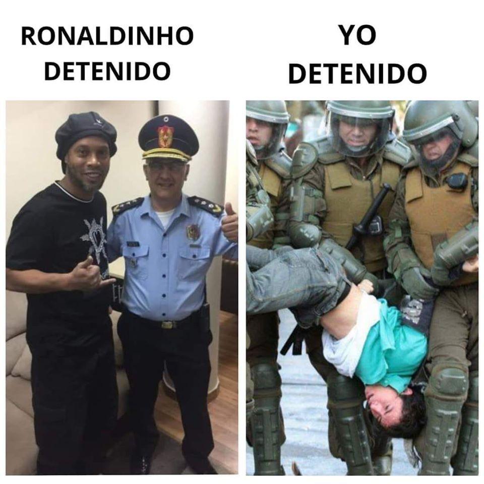 Ronaldinho detenido. / Yo detenido.