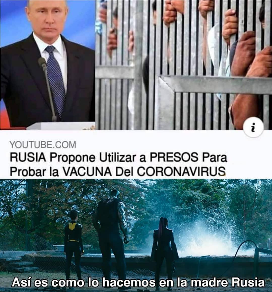 Rusia propone utilizar a presos para probar la vacuna del coronavirus.  Así es como lo hacemos en la madre Rusia.