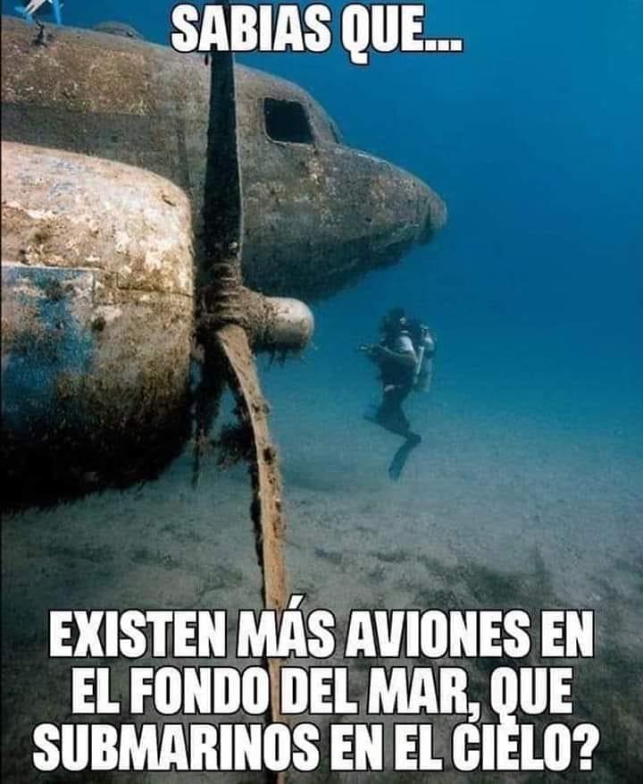 Sabías que... Existen más aviones en el fondo del mar, que submarinos en el cielo?