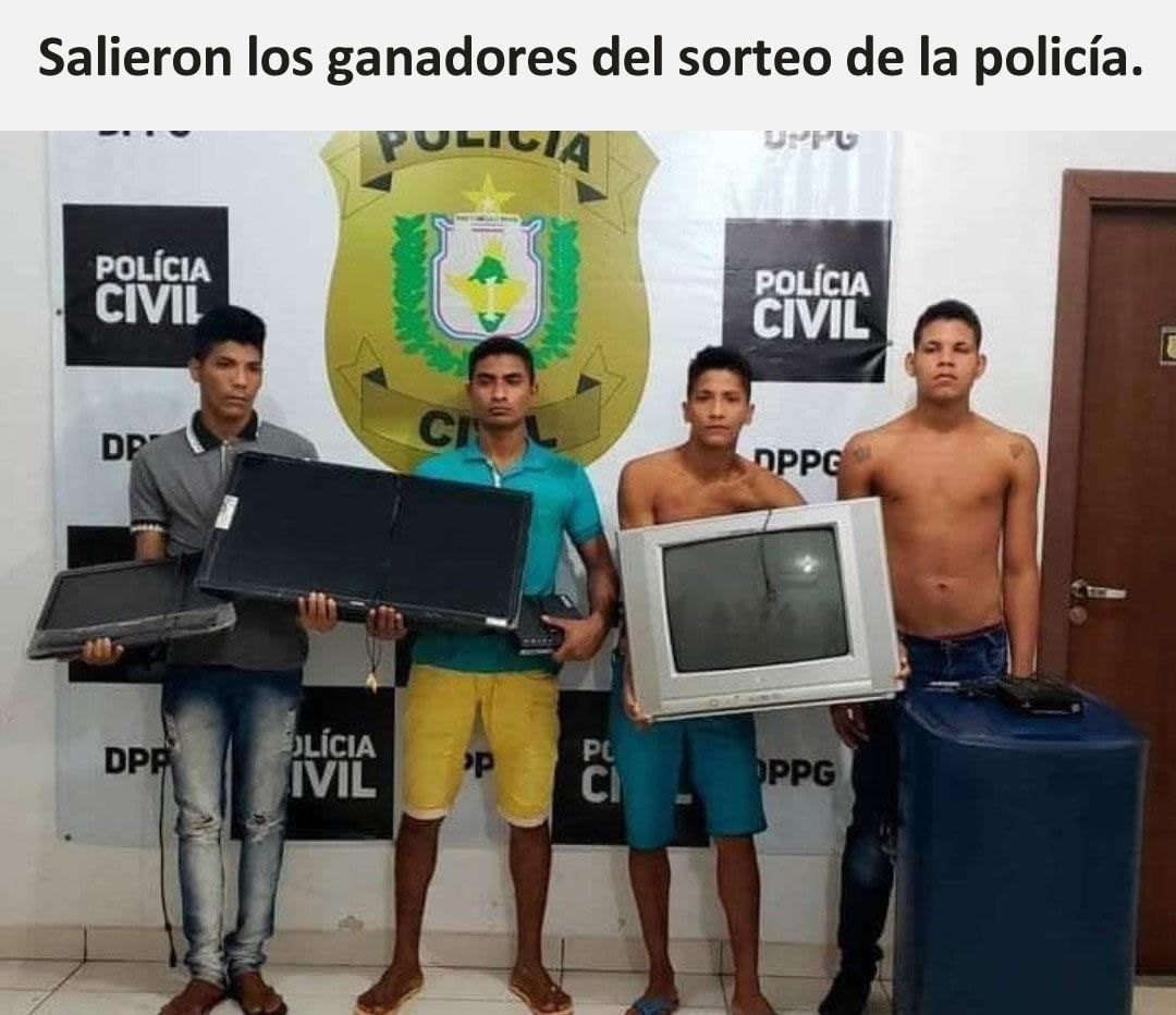Salieron los ganadores del sorteo de la policía.