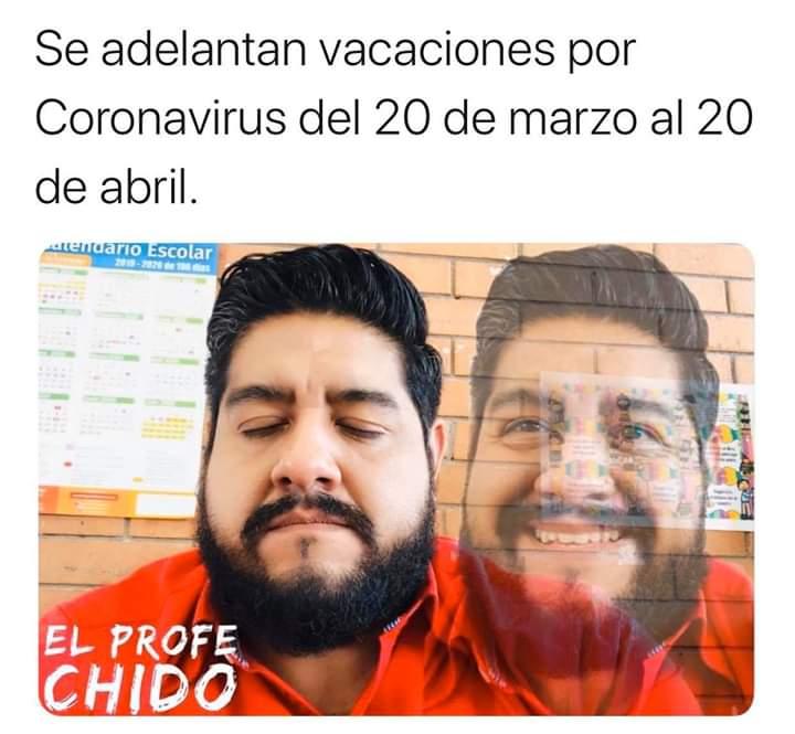 Se adelantan vacaciones por Coronavirus del 20 de marzo al 20 de abril.