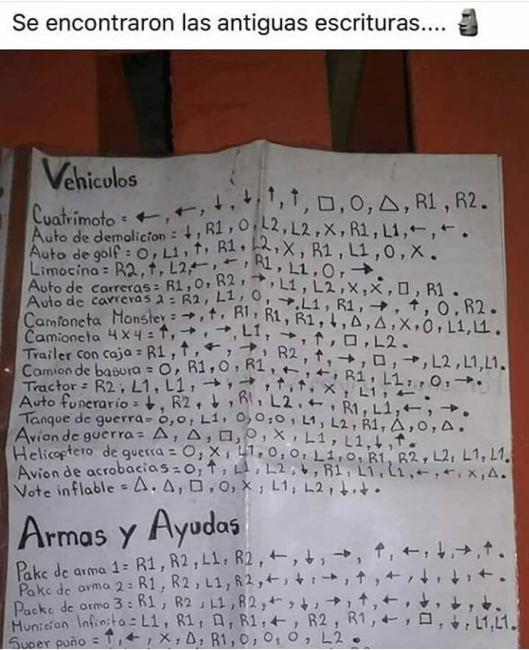 Se encontraron las antiguas escrituras...