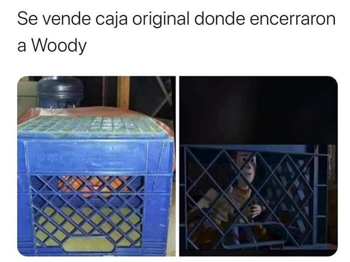 Se vende caja original donde encerraron a Woody.