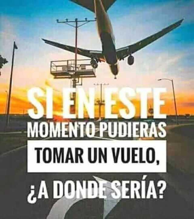 Si en este momento pudieras tomar un vuelo, ¿A donde irías?
