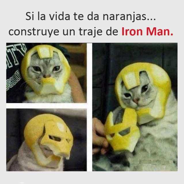 Si la vida te da naranjas... construye un traje de Iron Man.