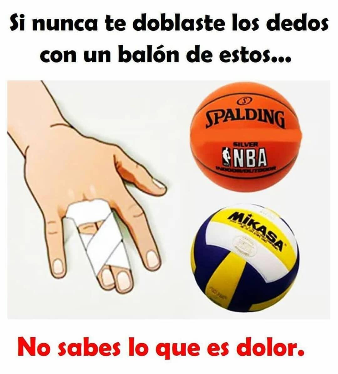 Si nunca te doblaste los dedos con un balón de estos...  No sabes lo que es el dolor.
