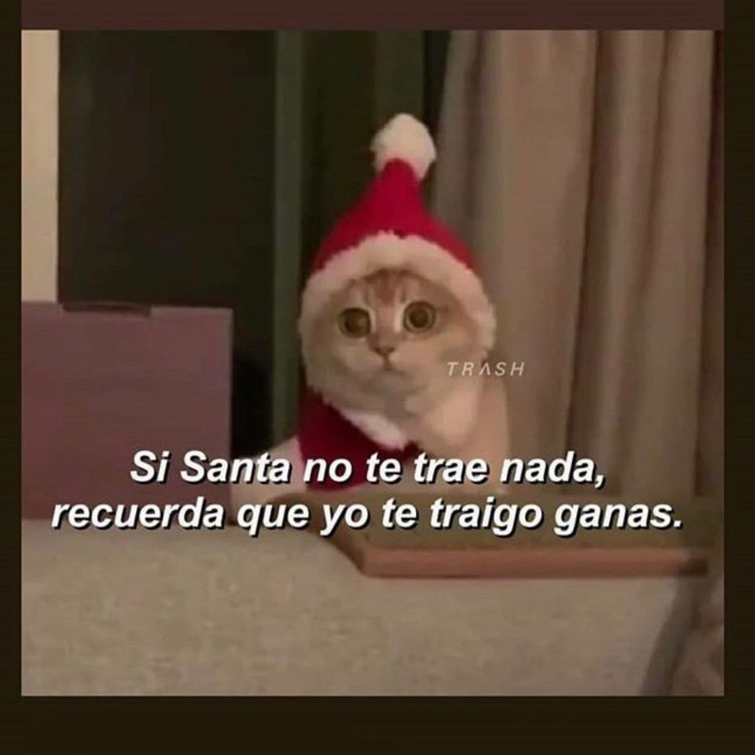 Si Santa no te trae nada, recuerda que yo te traigo ganas.