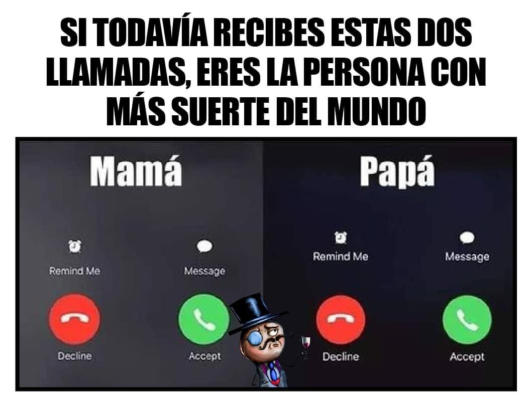 Si todavía recibes estas dos llamadas, eres la persona con más suerte del mundo.