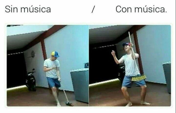 Sin música. / Con música.