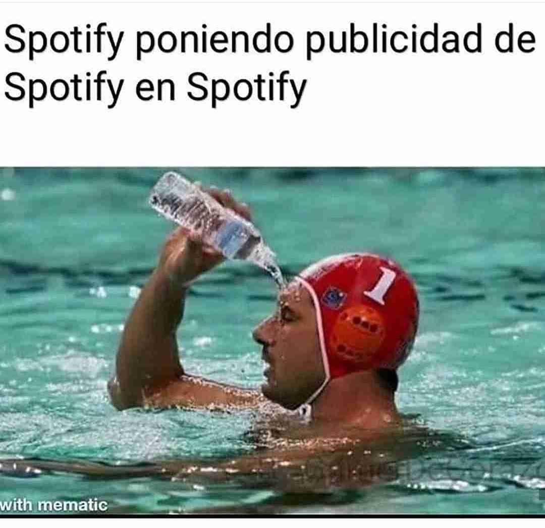 Spotify poniendo publicidad de Spotify en Spotify.
