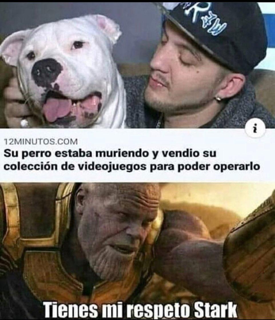 Su perro estaba muriendo y vendió su colección de videojuegos para poder operarlo.  Tienes mi respeto Stark.