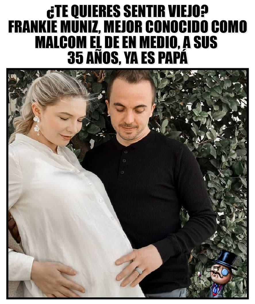 ¿Te quieres sentir viejo? Frankie Muniz, mejor conocido como Malcom el de en medio, a sus 35 años, ya es papá.