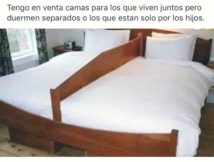 Tengo en venta camas para los que viven juntos pero duermen separados o los que estan solo por los hijos.