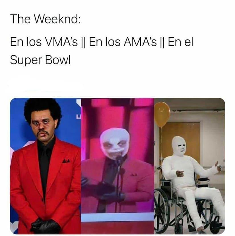 The Weeknd: En los VMA's. // En los AMA's. // En el Super Bowl.