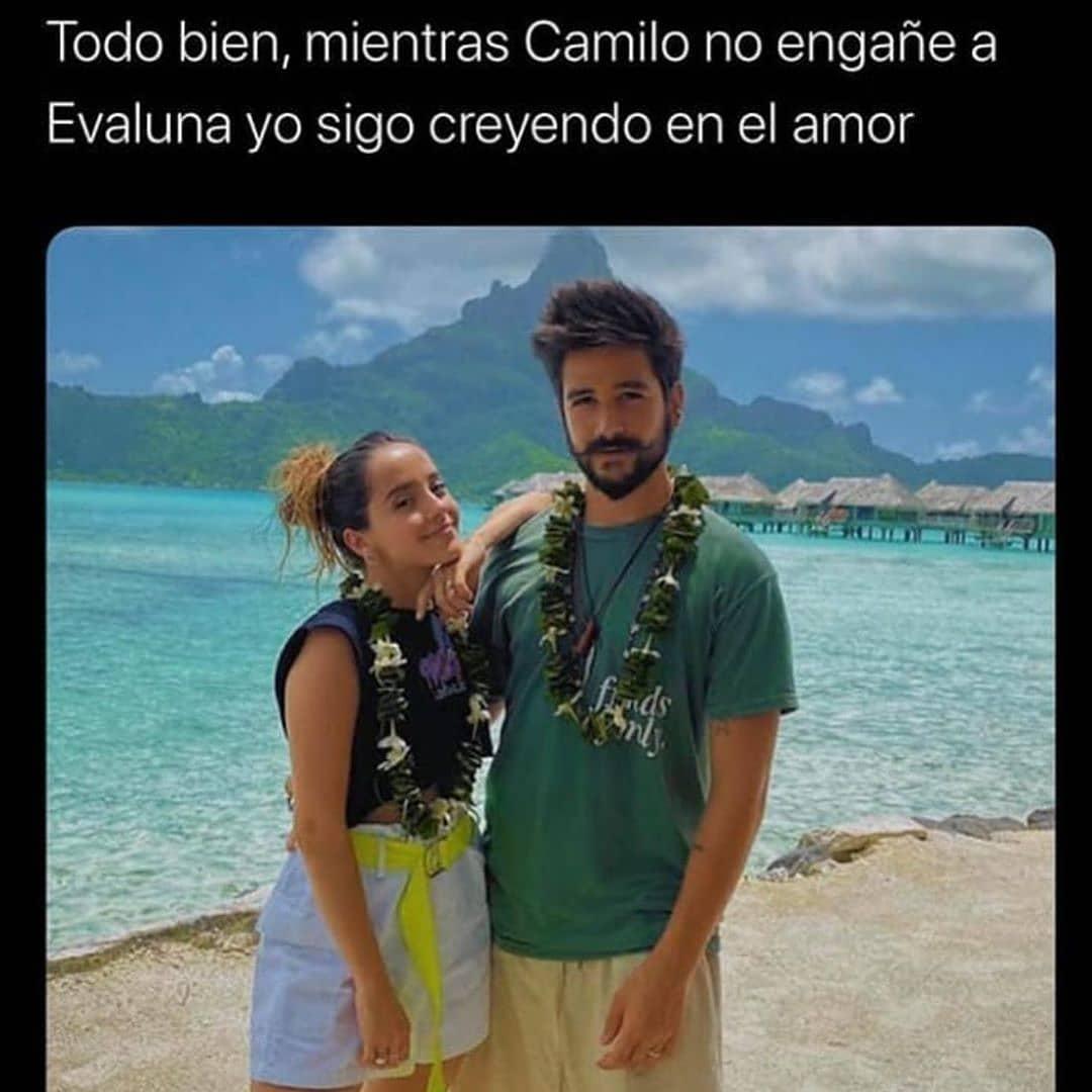 Todo bien, mientras Camilo no engañe a Evaluna yo sigo creyendo en el amor.